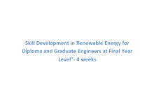Skill Development in Renewable Energy for Diploma and Graduate Engineers at Final Year Level