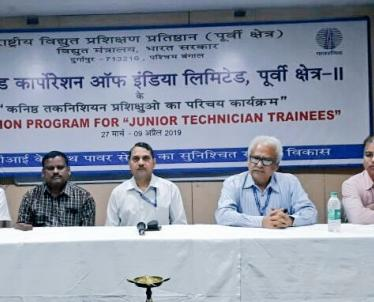 Induction and Functional Training for POWERGRID personnel inaugurated at NPTI, Durgapur by Sh. S J Lahiri, General Manager , ERTS- III, PGCIL.