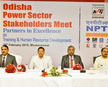 Odisha Power Sector Stakeholders Meet Partners in Excellence on Training and Human Resource Development was organised by the NPTI, Durgapur on 25th Feb, 2019.