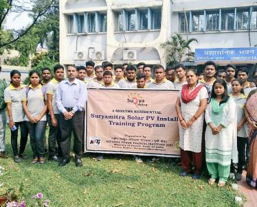 3-Months Skill Development Program on Solar PV Installer Suruamitra 6th batch sponsored by MNRE, Govt. of India successfully completed today with award of certificates at NPTI, Durgapur.