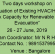 Two days workshop on Evaluation of Existing HVAC/HVDC Network Capacity for Renewable Energy Evacuation, 26-27 June 2019, NPTI Faridabad