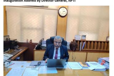 Inauguration Address by Director General, NPTI