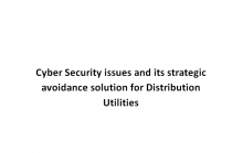 Cyber Security issues and its strategic avoidance solution for Distribution Utilities