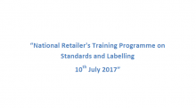Training Programme on Standards and Labeling