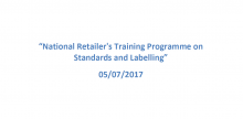 Training Programme on Standards and Labelling