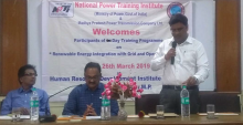 NPTI Faridabad conducted two days onsite training program on Renewable Energy Integration with Grid and Operational issues from 25-26 March, 2019 at HRDI, MPPTCL Jabalpur M.P.