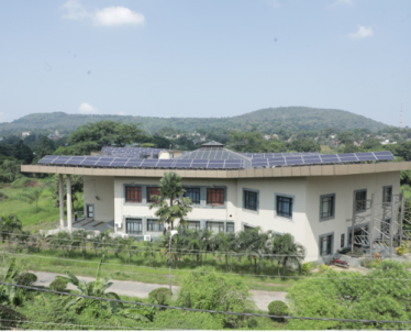 Hill Side View of 160 KWp Grid Connected Solar Rooftop SPV Plant Installed in NPTI-NER .