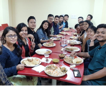 Asstt. Engineer Trainees (AETs) of five weeks Induction Training Program from NERTS, Powergrid, Shillong during dinner at New Executive Hostel Brahmaputra at NPTI-NER.