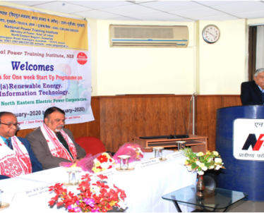 Inauguration programme of One Week Start Up Program on Renewable Energy & Information Technology Sponsored by NEEPCO on 06-01-2020.