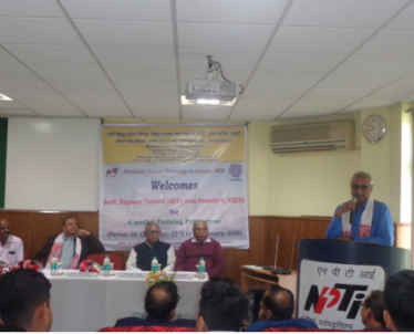 Inauguration Function of 5 weeks Induction Training Program of Asstt. Engineer Trainees (AETs) of NERTS, PGCIL on 09-12-2020. Total (20) twenty AETs attended the training program.