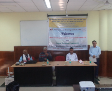 Inauguration Program of 3 days' Training on Design, Erection & Commissioning  of EHV Transmission Line on 10-12-2019 for officials of NETC Ltd. Total seventeen (17) officials from North Eastern Transmission Company Ltd. attended the training program.