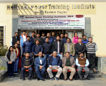 NEEPCO sponsored One week Start Up programme on Renewable Energy and Information Technology from 06.01.2020 to 10.01.2020. Total 26 trainees have attended the one week training  program.