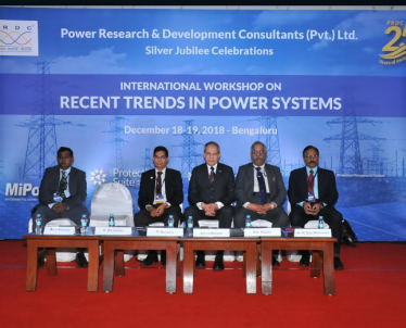 Two days International workshop on RECENT TRENDS IN POWER SYSTEMS 18-19th December Inaugurated by Dr.  R. Nagaraja, MD, PRDC, Dr. Saifur Rehman, President, IEEE- USA, Prof.Dr. R. K. Pandey, DG, NPTI, Mr. M. M. Babu Narayanan, PRDC