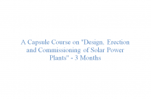 A Capsule Course for 3 months
